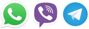 whatsapp, viber, telegram