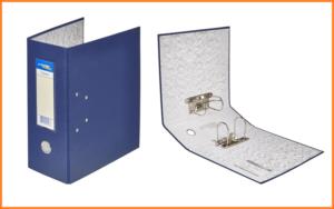 Папка с двумя арочными механизмами 125 мм синяя Expert Complete