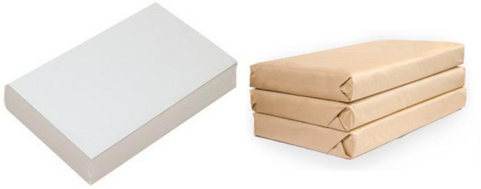 Пачки газетной бумаги упакованные в газетный же амбалаж