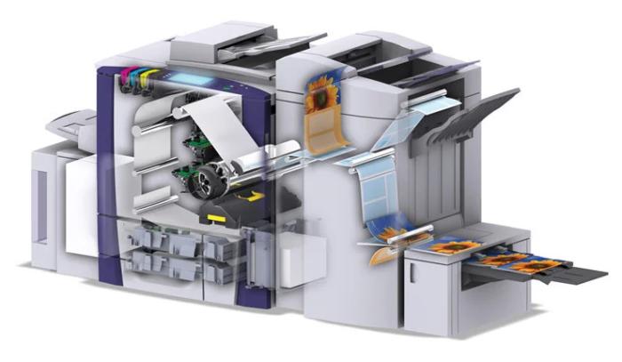 На изображении гипотетический станок для цифровой печати